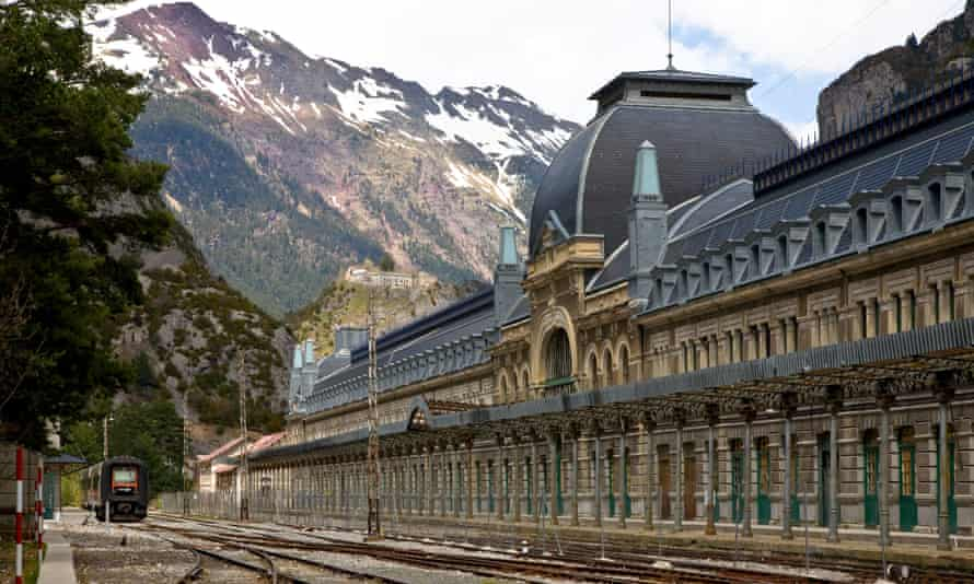 Canfranc station on the Franco-Spanish border.