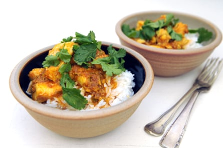 Nadiya Hussain's Taste of Home: cod and clementine curry on rice.