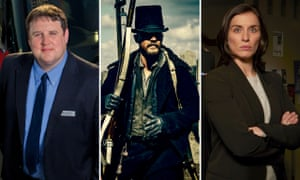 Front runners: Peter Kay in Car Share, Tom Hardy in Taboo, and Vicky McClure in Line of Duty