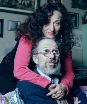 Robert Crumb and Aline Kominsky-Crumb at home in France.