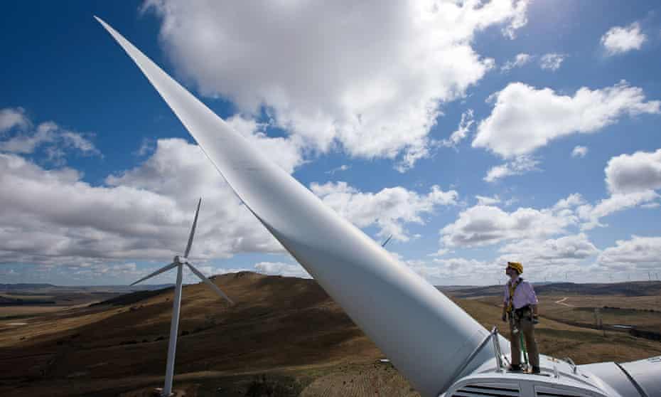 A windfarm in Bungendore, Australia