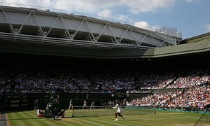Serena Williams and Angelique Kerber in action on Centre Court during the 2018 women's singles final at Wimbledon.