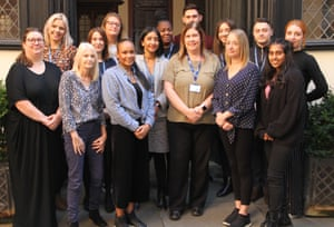 Social Work Academy Leadership Team with four Newly Qualified Social Workers. Coventry City Council