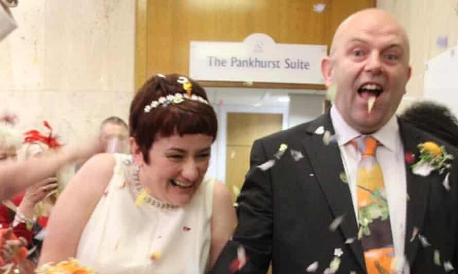 Matt and Gail on their wedding day.