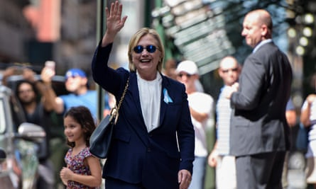 Hillary Clinton in New York after the 9/11 ceremony.