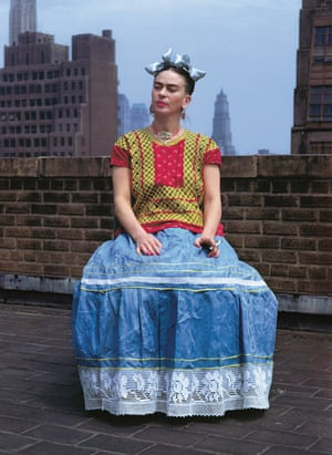 The Mexican artist Frida Kahlo on a rooftop in Greenwich Village in March 1939.