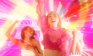 Pink and perky: Rina Sawayama in the Cyber Stockholm Syndrome video.