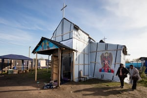 Ethiopian church, Calais refugee camp