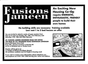 An early advertisement seeking self-builders to join the scheme.