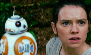 Out of sight … Daisy Ridley as Rey with BB-8 in Star Wars: The Force Awakens.