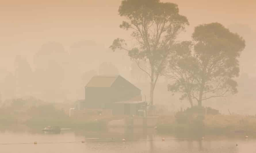 Kosciuszko national park in New South Wales, shrouded in smoke from the fires.