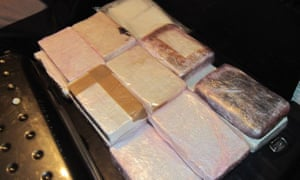 Blocks of cocaine seized from the gang