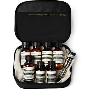London travel grooming kit, £50, Aesop mrporter.com