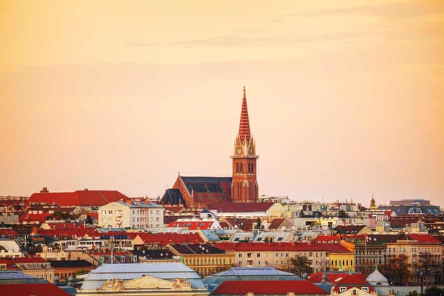 A church dominates Vienna's skyline