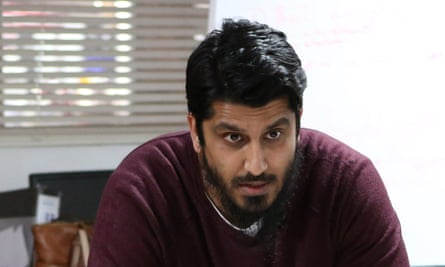Muhammad Rabbani, director of Cage, pictured at a meeting in 2015 in London
