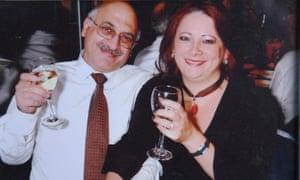 A family photograph of Anoosheh Ashoori (left) and his wife Sherry Izadi