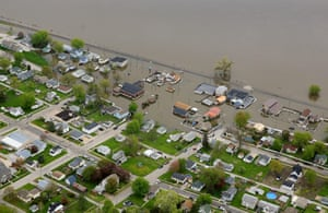 Buffalo, a city along the Mississippi river, was underwater for days after the river broke its banks.