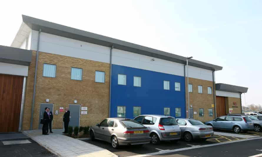 Brook House immigration removal centre, next to Gatwick airport in West Sussex.