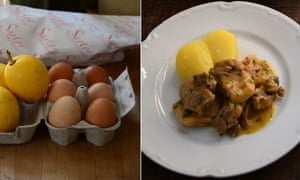 Rachel Roddy's chicken with lemon and egg sauce