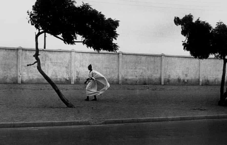 Dakar Roadside with Figures, Dakar, Senegal (1972).