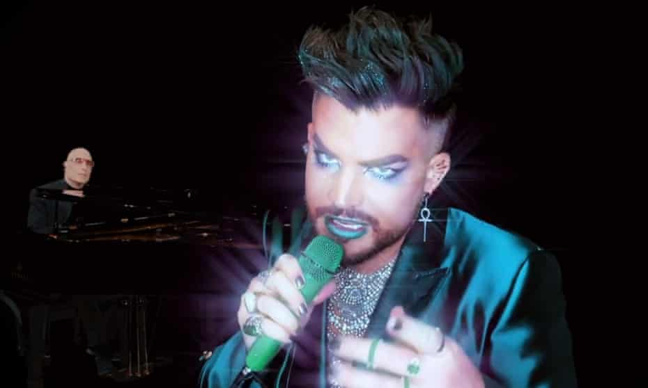 Adam Lambert, performing with Mike Garson in A Bowie Celebration.