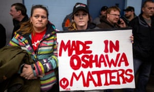 General Motors wokers in Oshawa. To many workers, the plant's imminent closure felt like the ultimate betrayal of their loyalty.