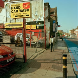 Tooting - This was taken early on a Sunday morning. The car wash and the colours in the scene reminded me of the west coast of America - maybe Los Angeles. A couple of years ago the site was cleared for the inevitable property developers to move in.