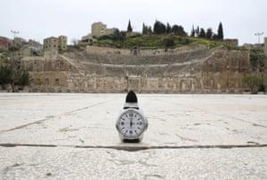 The Roman amphitheater in Amman, Jordan