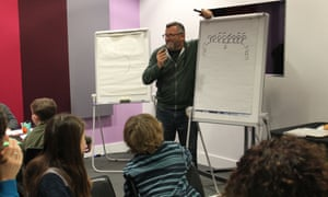 Harry Venning gets families to release their inner cartoonist at the Guardian cartoon and art family day.
