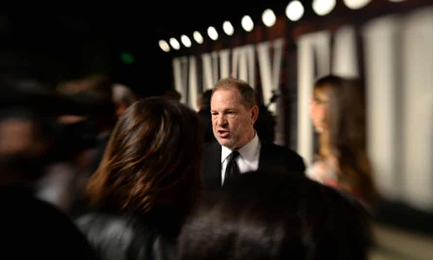 Harvey Weinstein after the 2016 Academy awards ceremony.