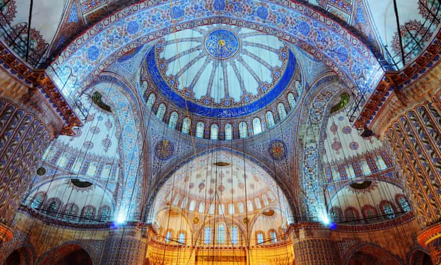 The domed Blue Mosque