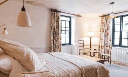 Bedroom at The Bull, Totnes, Devon, UK.