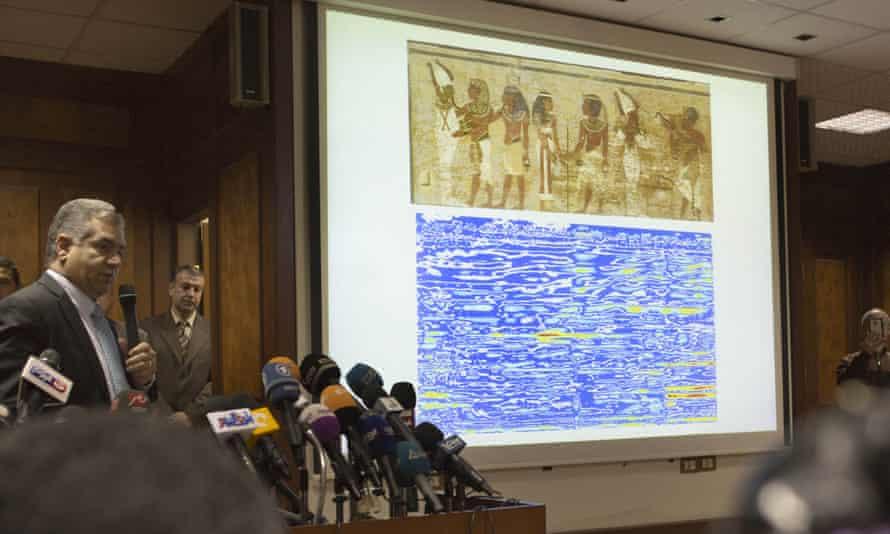 Scan of north wall of Tutankhamun's tomb