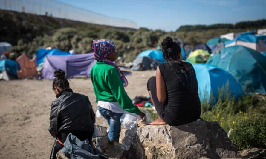 Asylum seekers in Calais.