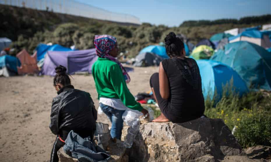 Eritrean refugee women in Calais, August 2015