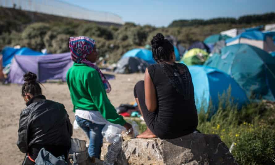 Eritrean women near Calais.