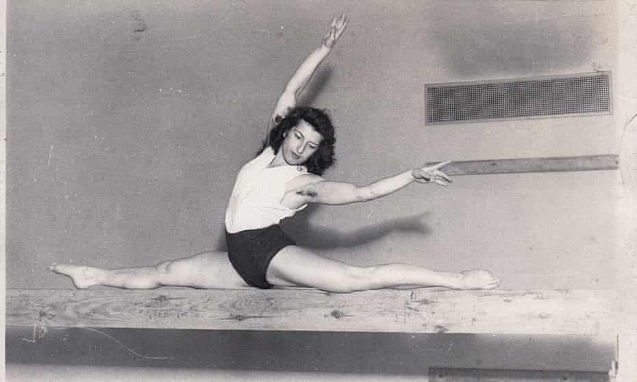 Agnes Keleti in action in her prime