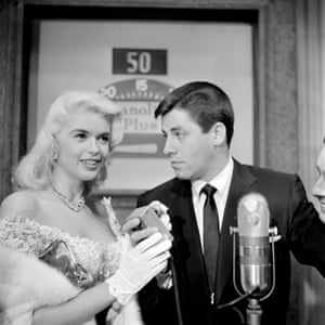 Jerry Lewis and Jayne Mansfield on Name that Tune on 17 July 17 1956