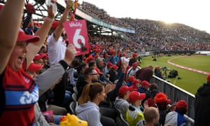 Fans at Old Trafford enjoy the battle between Lancashire and Yorkshire in the T20 Blast.
