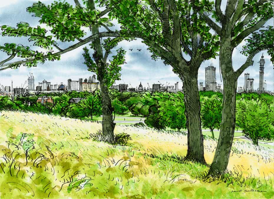 The view from Primrose Hill, by David Gentleman.
