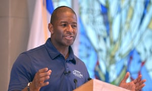 Andrew Gillum, a candidate for Florida governor, has been rated 'Fx' by the NRA.
