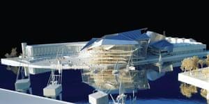 Model of the Behnisch and Behnisch design for the Harbourside Centre.