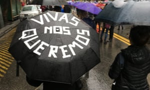 'Vivas nos queremos' meaning 'We want to live' was one of the slogans for Wednesday's march