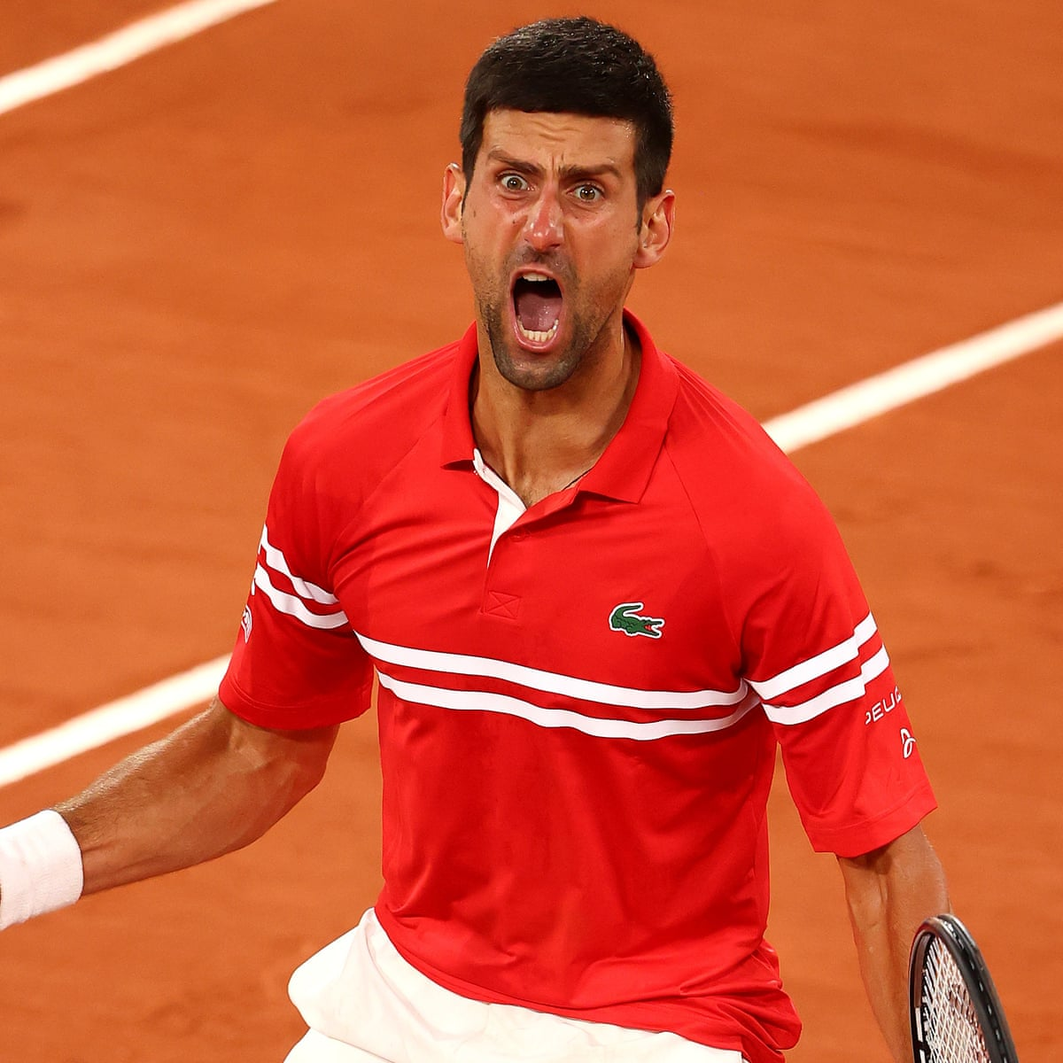 Djokovic Shuts Out French Open Silence And Boos To Set Up Nadal Semi Final French Open The Guardian