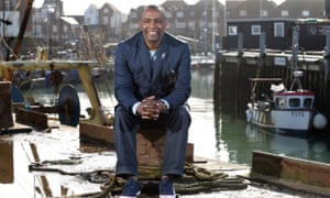 Vince Hilaire in Portsmouth, where he is so beloved that he 'felt safe' while spending a night in prison in the south-coast city.