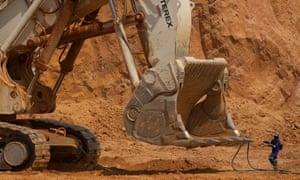 An excavator at Katanga