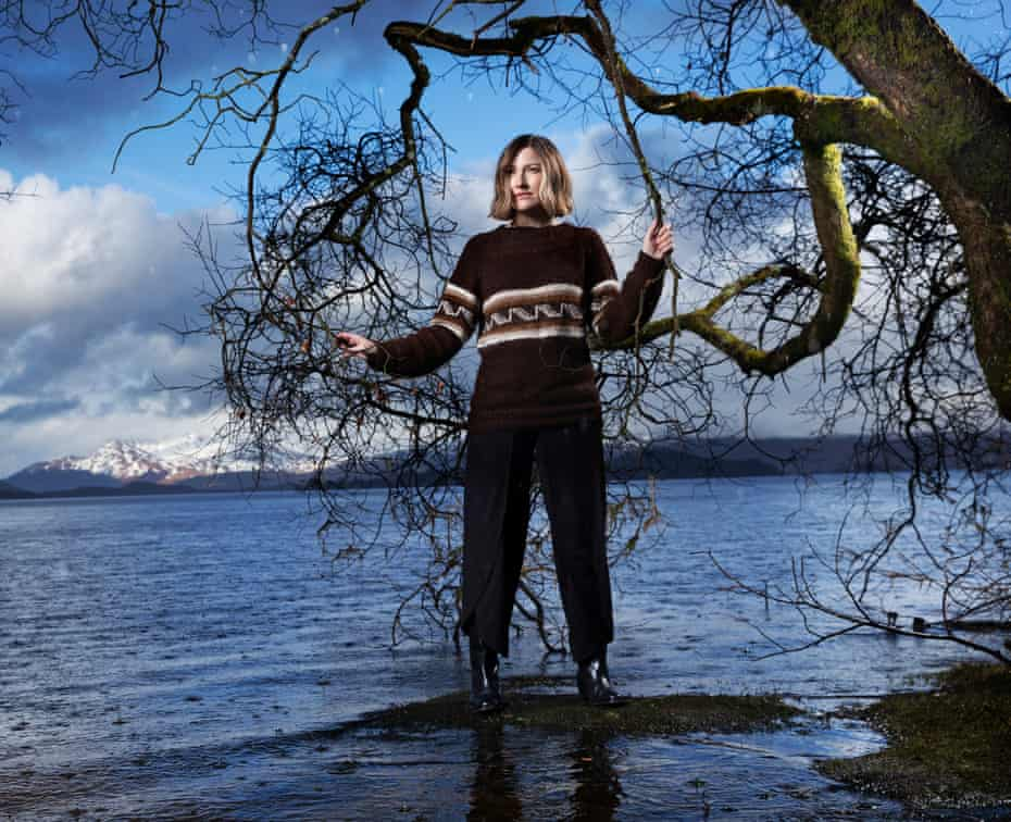 Kelly Macdonald on the banks of Loch Lomond.