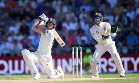 Ben Stokes batting during the historic Headingley Test.