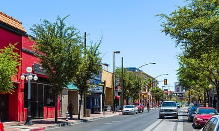 Downtown Tucson in summertime