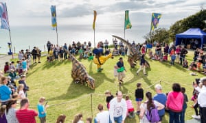 A dinosaur show at Blackgang Chine, Isle of Wight